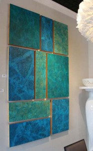Nine Panels in Blue and Green 2014